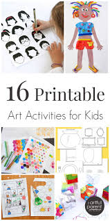 16 printable art activities for kids to encourage creativity art