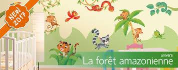 stickers jungle chambre bébé stickers muraux chambre enfant leostickers