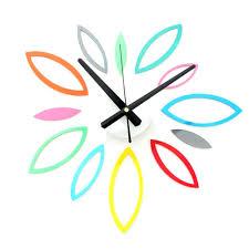 target digital wall clock diy fun multicolored flower wall clock