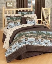 Bed Sets Amazon Com River Fishing Comforter Set Queen Home U0026 Kitchen