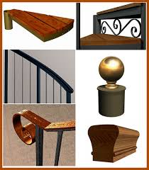 Stair Banister Parts Mi Patio Deck Stairs Buy Metal Spiral Staircase Kits