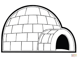 best photos of free printable igloo coloring pages igloo