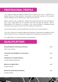 Resume Objective Statement For Teacher Infant Teacher Resume Resume For Your Job Application