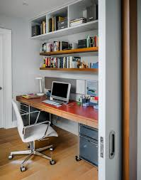 rolling file cabinet home office contemporary with built in desk casters computer desk desk drawers floating shelves gray walls office