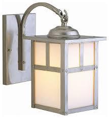 Stainless Steel Exterior Light Fixtures Lighting Design Ideas Ideas Craftsman Style Outdoor Lighting