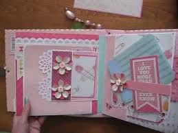 baby girl pink 8x8 scrapbook mini album