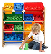 Lego Storage Containers Amazon - amazon com tot tutors kids u0027 toy storage organizer with 12 plastic