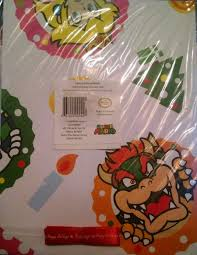mario wrapping paper mario bros happy holidays christmas gift wrap w ribbon