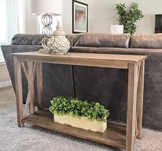 Farmhouse Console Table Solid Rustic Grey Wood Farmhouse Console Table Farmhouse Goals