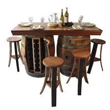 Rustic Dining Room Tables Wine Barrel Dining Room Table Alliancemv Com