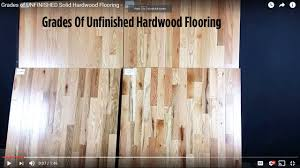 grades of unfinished solid hardwood flooring
