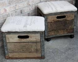 Wood Storage Ottoman Best 25 Crate Ottoman Ideas On Pinterest Diy Storage Diy With