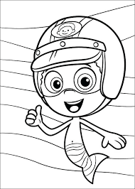 bubble guppy coloring pages recent collection sweet treat birthday