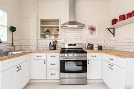 traditional backsplashes for kitchens traditional kitchen with concrete floors wood counters in sonoma