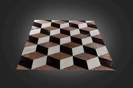 tappeti pelle di mucca tappeto moderno a motivi geometrici in pelle di mucca