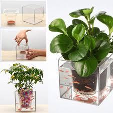 Self Water Pot Aliexpress Com Buy 3pieces Self Watering Planter Fish Tank Clear