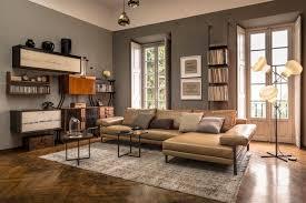 canap d angle en cuir marron canapé d angle dans le salon pour plus de confort à la maison