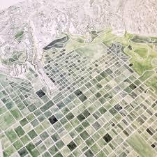 Salt Lake City Map Salt Lake City Watercolor City Blocks Map Print U2014 Turn Of The