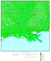 New Orleans Elevation Map by Louisiana Elevation Map