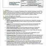 disaster recovery plan template for small business sample disaster