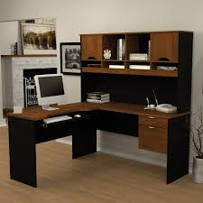 Bush Desk With Hutch Minimalist Black Painted Wooden Laptop Desk With Low Book