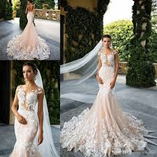 lace mermaid wedding dress milla 2017 cap sleeve mermaid wedding dresses sheer neck lace