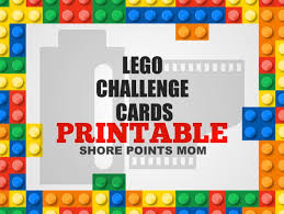 free cards free printable lego challenge cards shore points