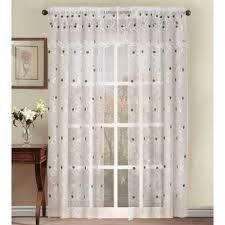 Sheer Embroidered Curtains Buy Green Sheer Curtains From Bed Bath U0026 Beyond
