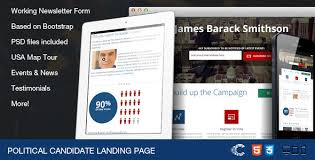 political candidate responsive landing page 25 prodigious