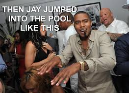 Jay Z Diving Memes - jay z jumped into a swimming pool and the rest is history