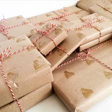 brown paper wrapping use brown parcel paper to wrap christmas presents miss thrifty