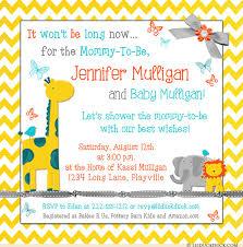 baby shower giraffe bright giraffe baby shower invitations yellow chevron