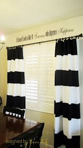 Black And White Striped Curtains Ikea Diy Black U0026 White Striped Curtains Striped Curtains Black Twins