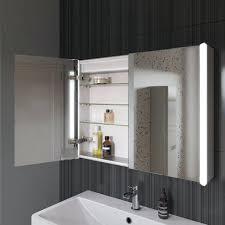 Lighted Bathroom Mirror Cabinets Led Bathroom Mirror With Shaver Socket Bloom Illuminated Led