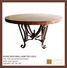hammered copper dining table