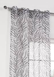 Zebra Shower Curtain by Zebra Voile Panel Black Eyelet Curtains Com