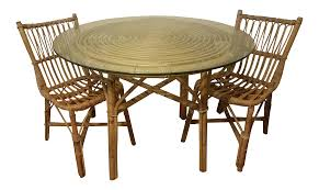 kitchen table furniture vintage used dining table chair sets chairish