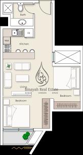 platinum residences studio apartment type 4 floor plan