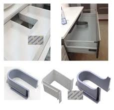 kitchen sink cabinet parts plastic u shape sink basin bath cabinet drawer pull out recessed u cutout cover for drainage grommet