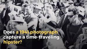 does time travel exist images Fact check does a photograph capture a time traveling hipster jpg