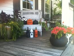 diy halloween decorations view from our front porch swing