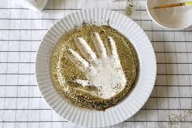 baking soda clay handprint keepsakes papa bubba