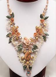 Costume Jewelry Unique Beaded Design 124 Best Beaded Flower Necklaces Images On Pinterest Beading