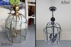 Spray Painting Brass Light Fixtures I Give This Ten A Ten Bower Power