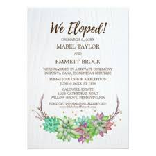 elopement invitations elopement reception invitations announcements zazzle