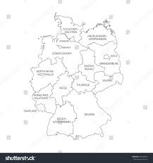 Hamburg Germany Map by Map Germany Devided 13 Federal States Stock Vector 509923864