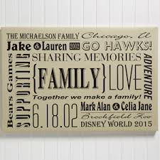 personalized family canvas print wall our family