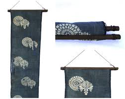 textile display hanger wooden fabric scroll wall hanging