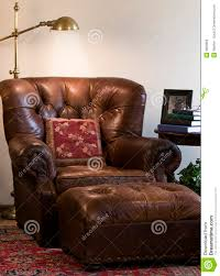 comfortable reading chairs leather reading chair stock photo image of lamp indoor 9809066