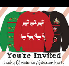 tacky sweater invitations free printable this